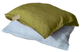 100% Natural Linen Stone Washed Pillow Case, Green