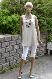 100% Natural Linen tunic Stephanie