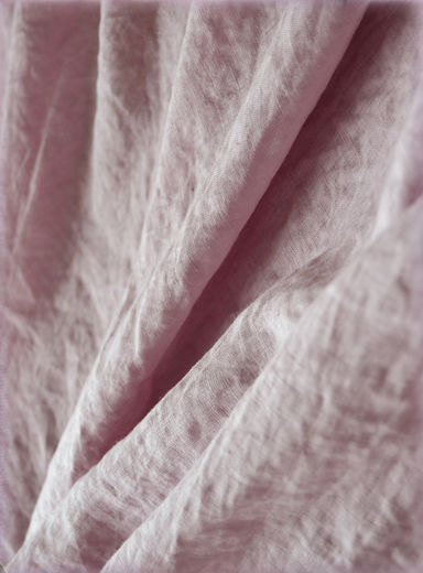 Wide 100% linen fabric with stone washed finish, Old Rose