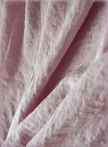 100% linen fabric with stone washed finish, Old Rose