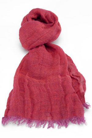 Copy of 100% Natural Linen Scarf,  Red