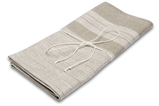 100% Natural Hand towel, Natural/White