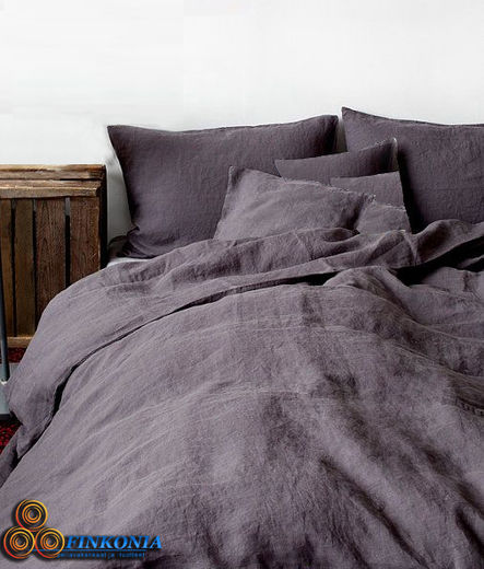 Copy of Stone Washed KingSize Linen  Duvet Cover Set, Grey